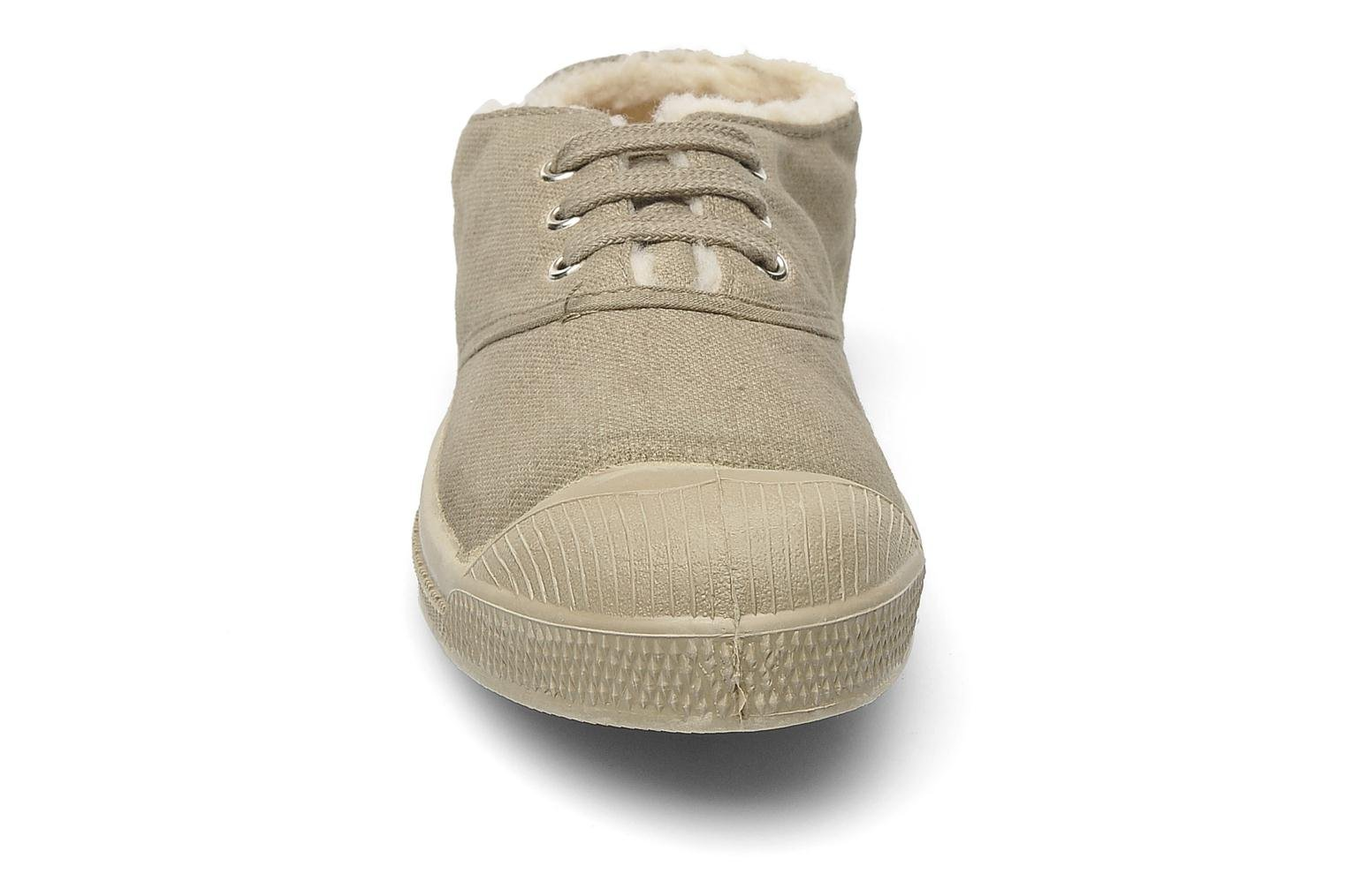 Sneakers Bensimon Tennis Fourrees E Beige modello indossato