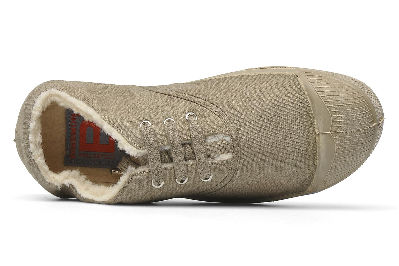 Trainers Bensimon Tennis fourrees e Beige view from the left