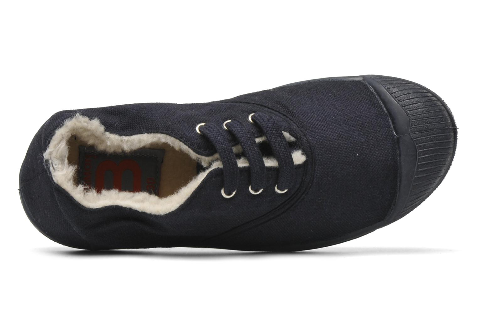 Trainers Bensimon Tennis fourrees e Blue view from the left