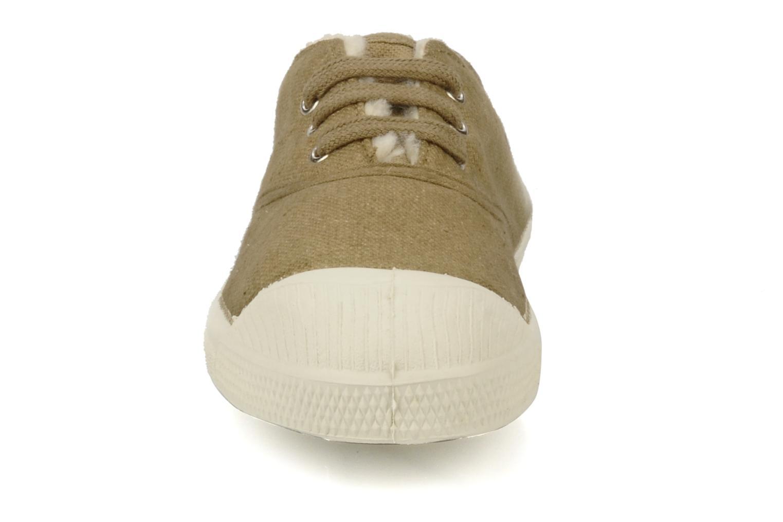 Baskets Bensimon Tennis Fourrees E Beige vue portées chaussures