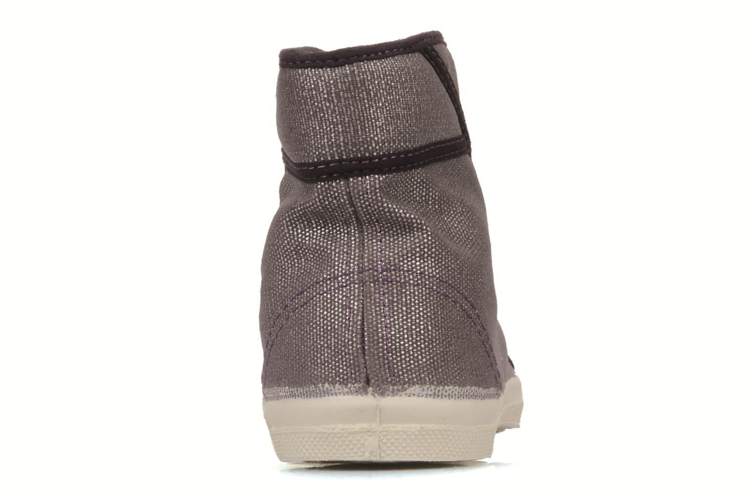 Trainers Bensimon Tennis mid shinny e Purple view from the right