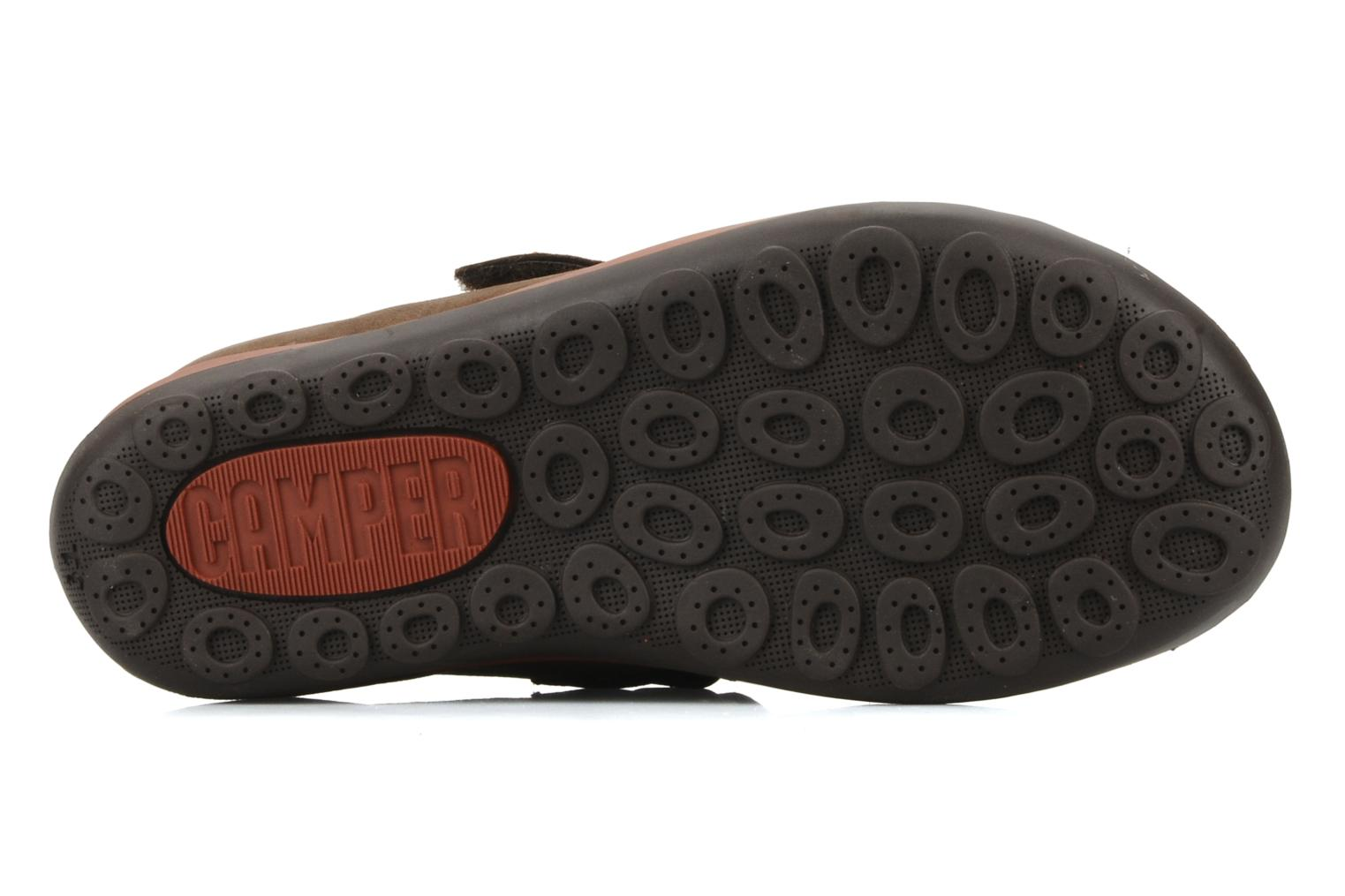Trainers Camper Peu pista 90151 Brown view from above