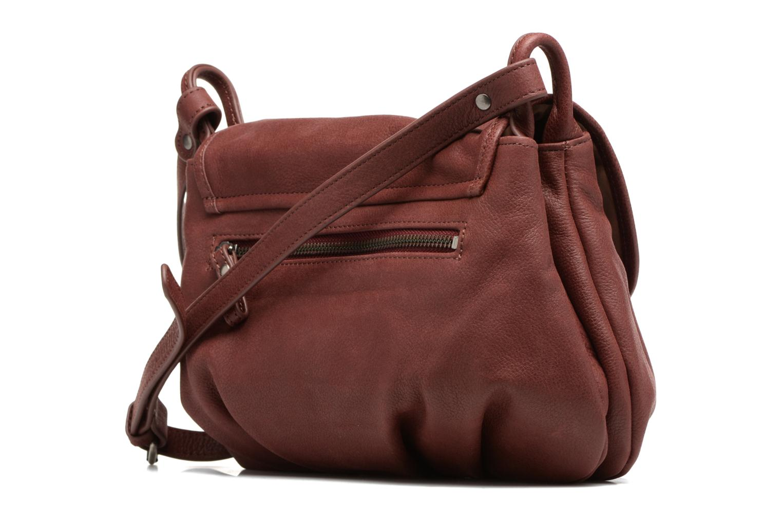 Handbags Nat & Nin Jen Burgundy view from the right