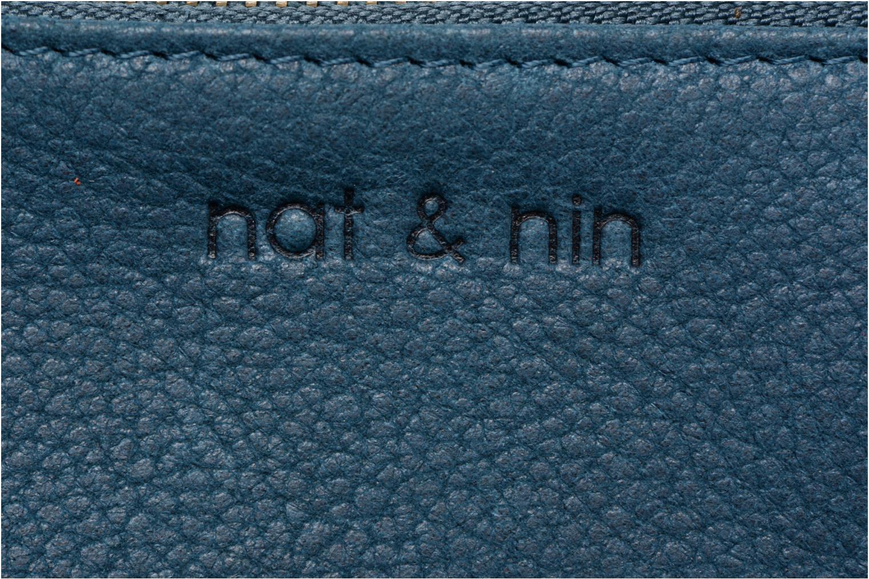 Petite Maroquinerie Nat & Nin Ally Bleu vue derrière
