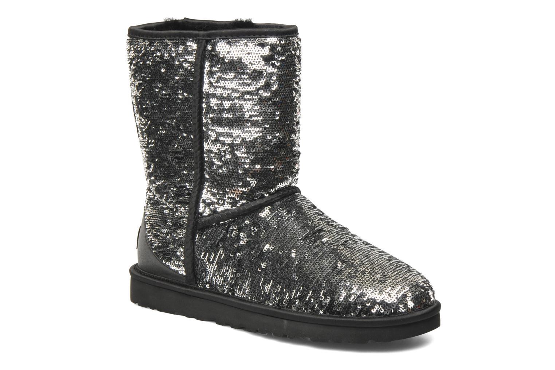 UGG Classic Short Sparkles (Argent) - Bottines et boots