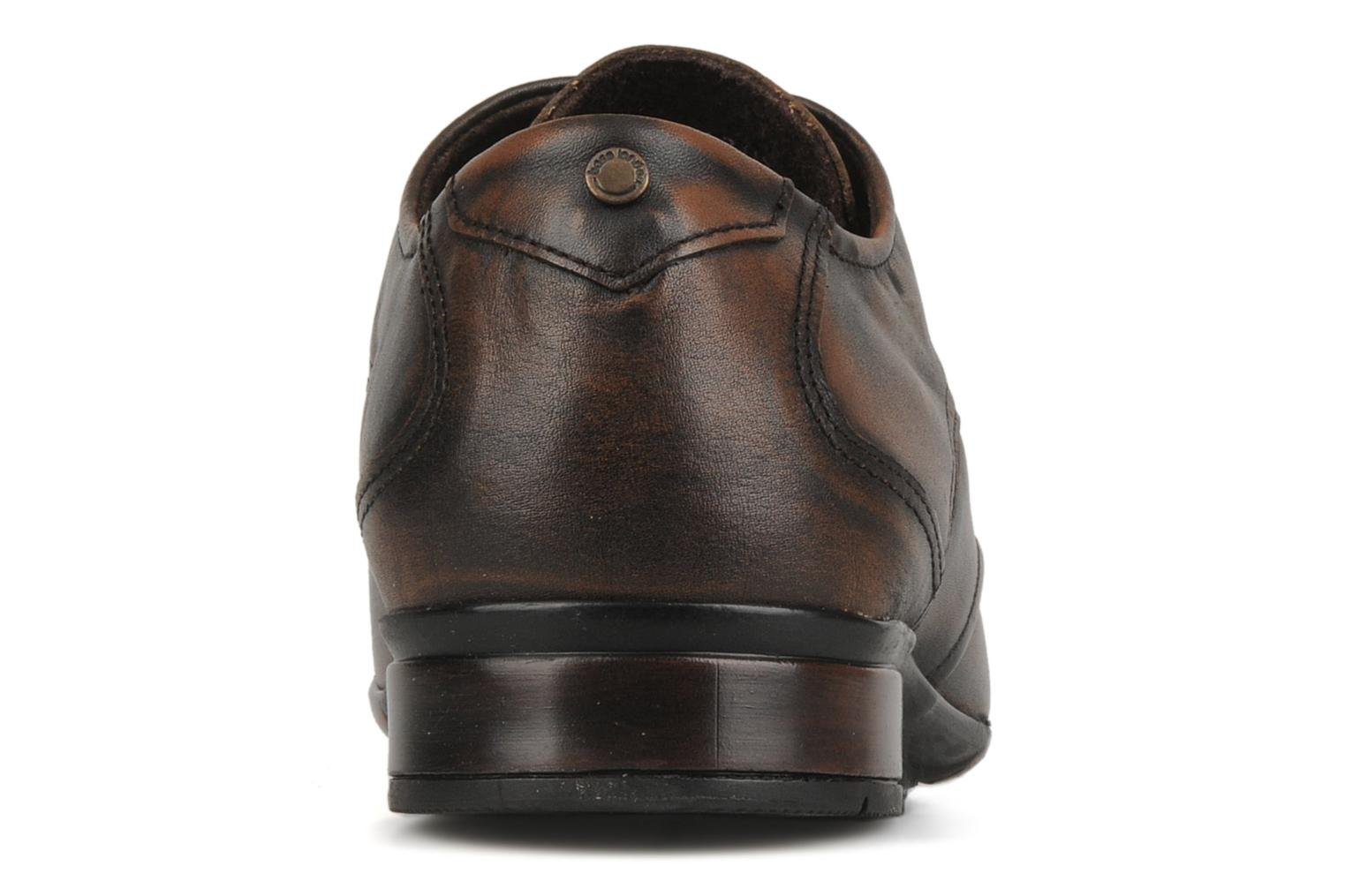 Lace-up shoes Base London Aspect Brown view from the right