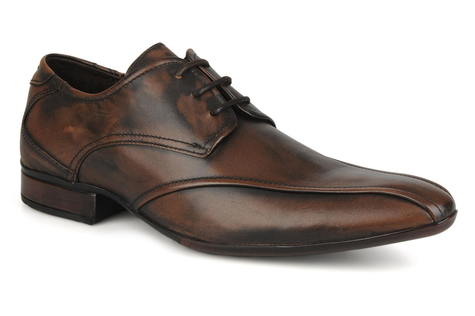 Lace-up shoes Base London Aspect Brown detailed view/ Pair view