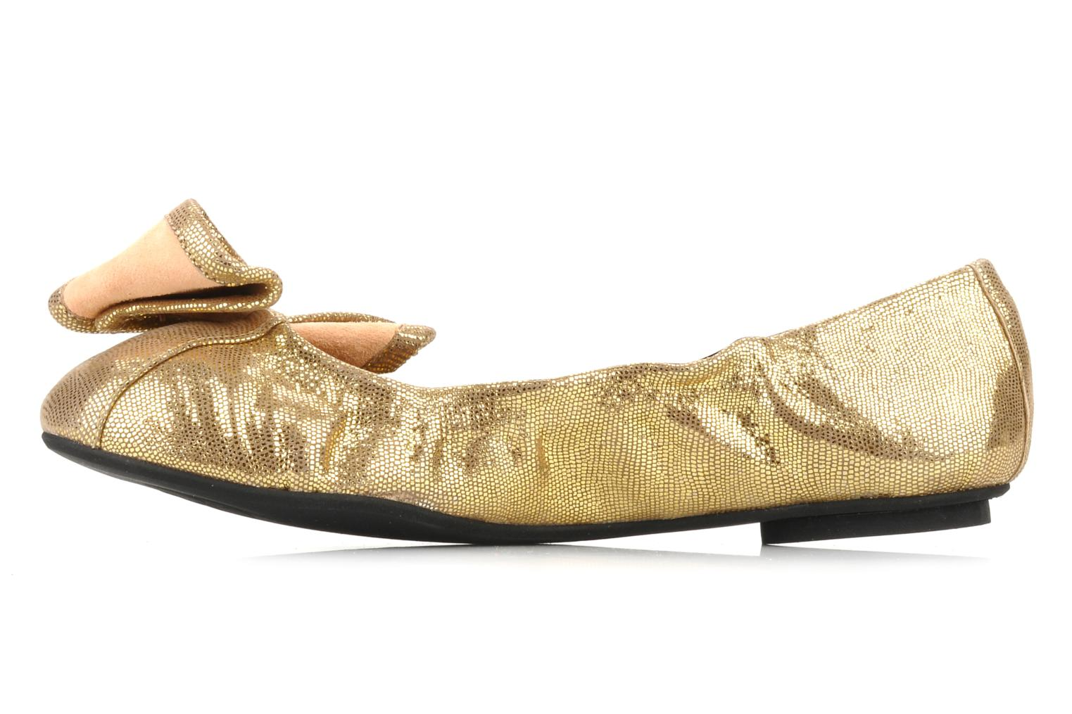 Ballet pumps Maloles Blanche Bronze and Gold front view