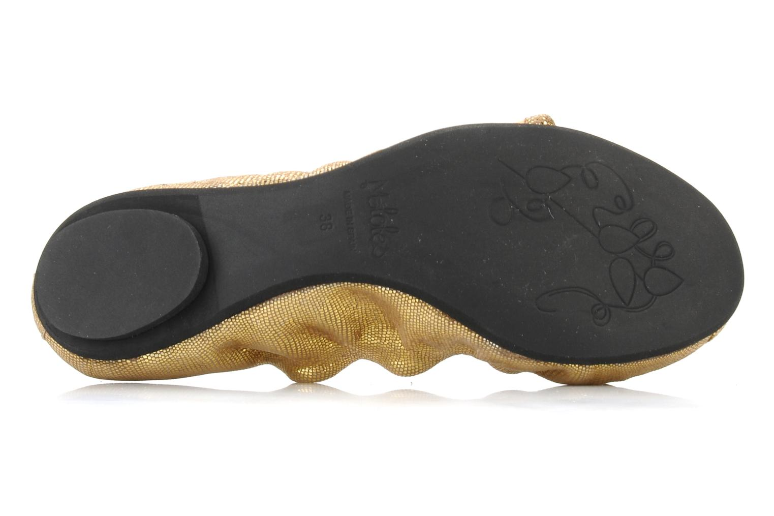 Ballet pumps Maloles Blanche Bronze and Gold view from above