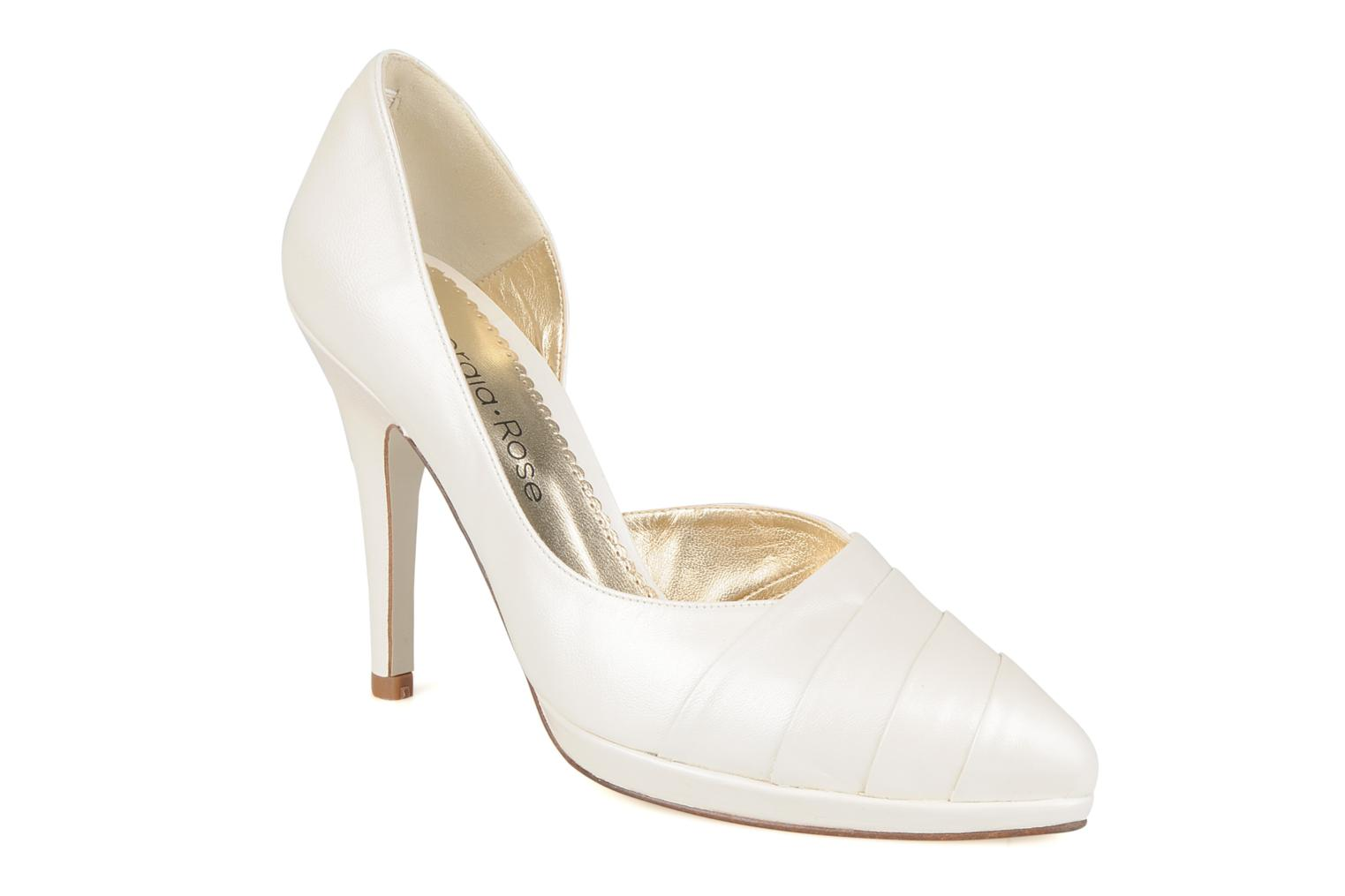 High heels Georgia Rose Louance White detailed view/ Pair view