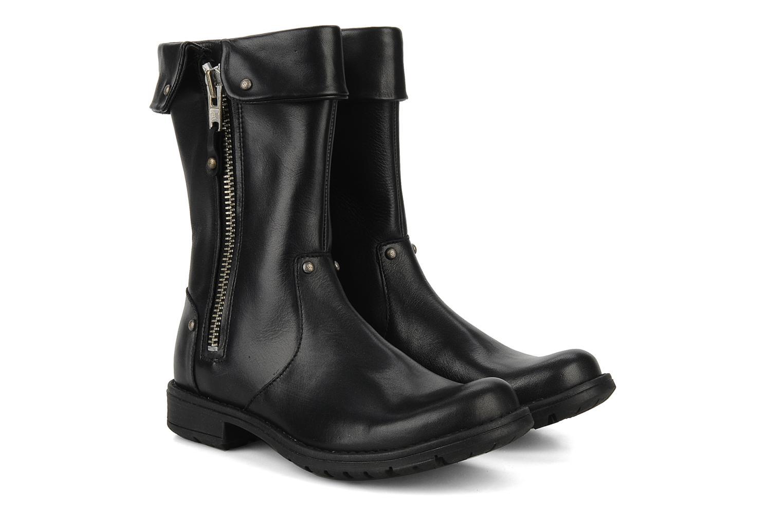 Boots & wellies Pom d Api Lina zip reverse Black 3/4 view