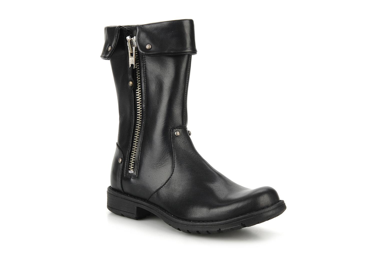 Stiefel Pom d Api Lina zip reverse schwarz detaillierte ansicht/modell