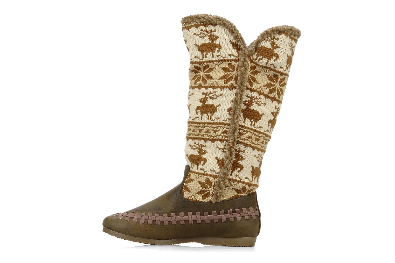 Stiefel Chocolate Schubar Fafia braun ansicht von vorne