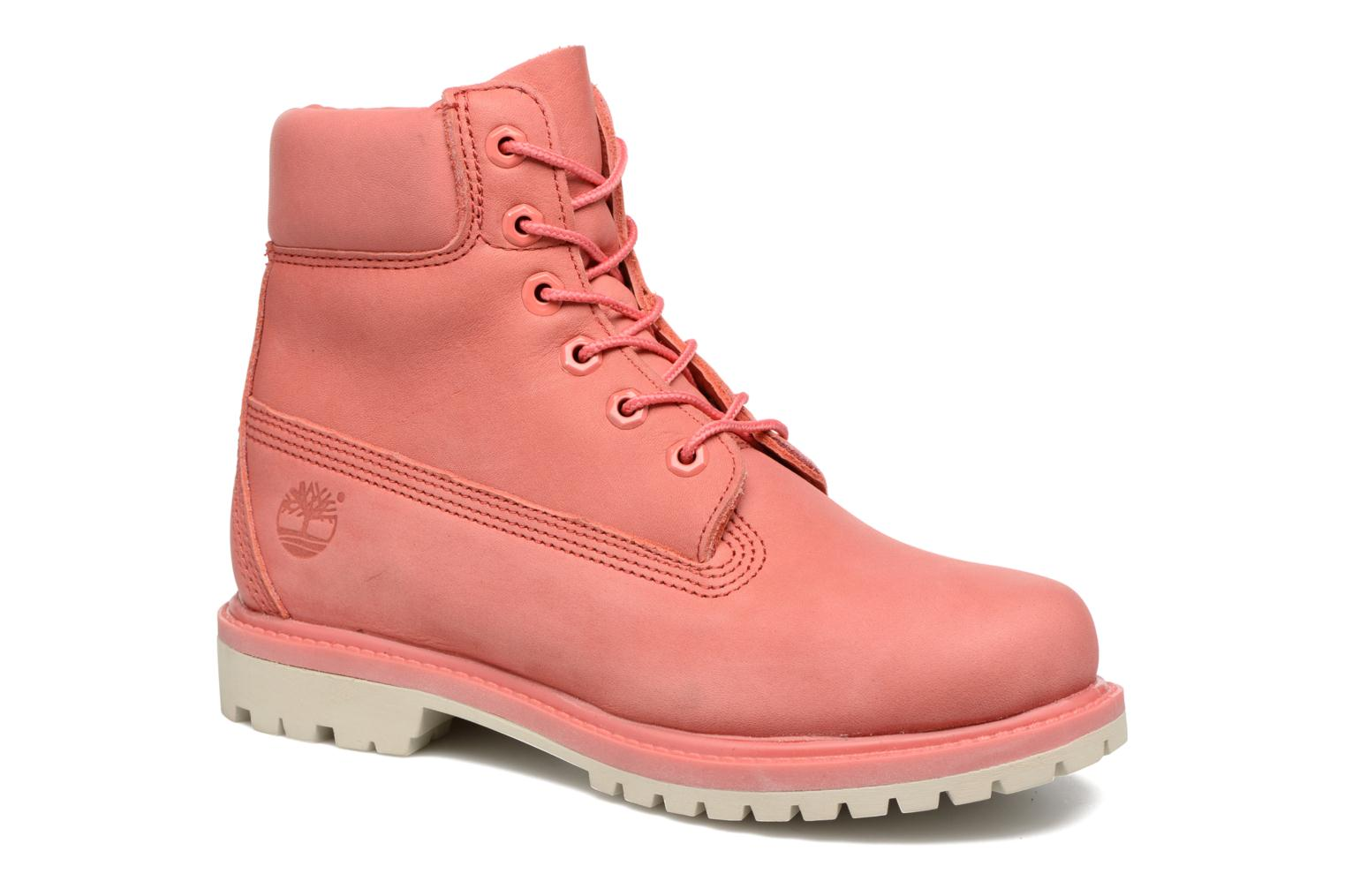 Bottines et boots Timberland 6 in premium boot w Rose vue détail/paire