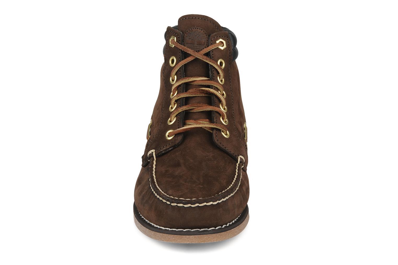Bottines et boots Timberland 7 eye chukka Marron vue portées chaussures