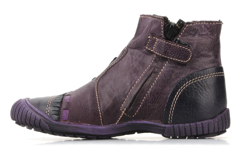 Stiefeletten & Boots Catimini Cati a24 lila ansicht von vorne