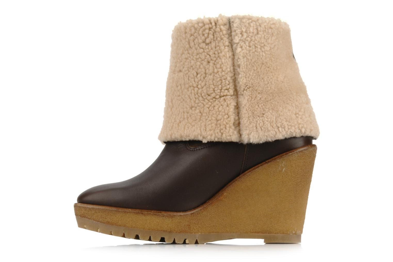 Boots en enkellaarsjes Pare Gabia Nelice Bruin voorkant