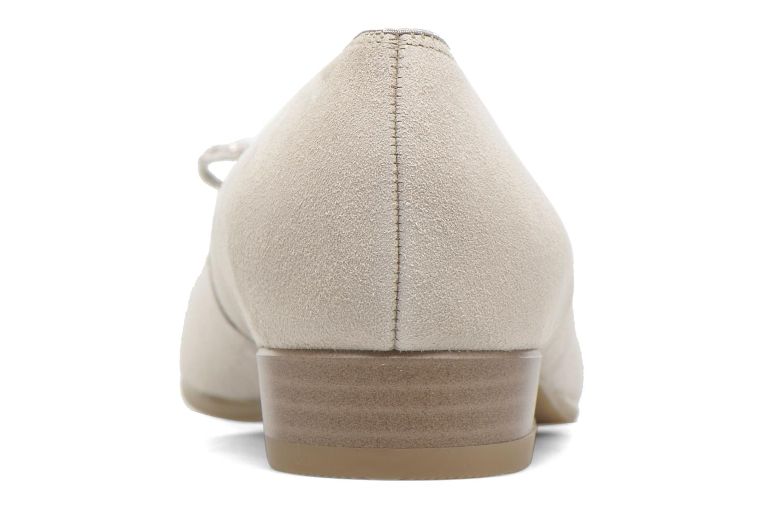 Ballet pumps Ara Bari Beige view from the right