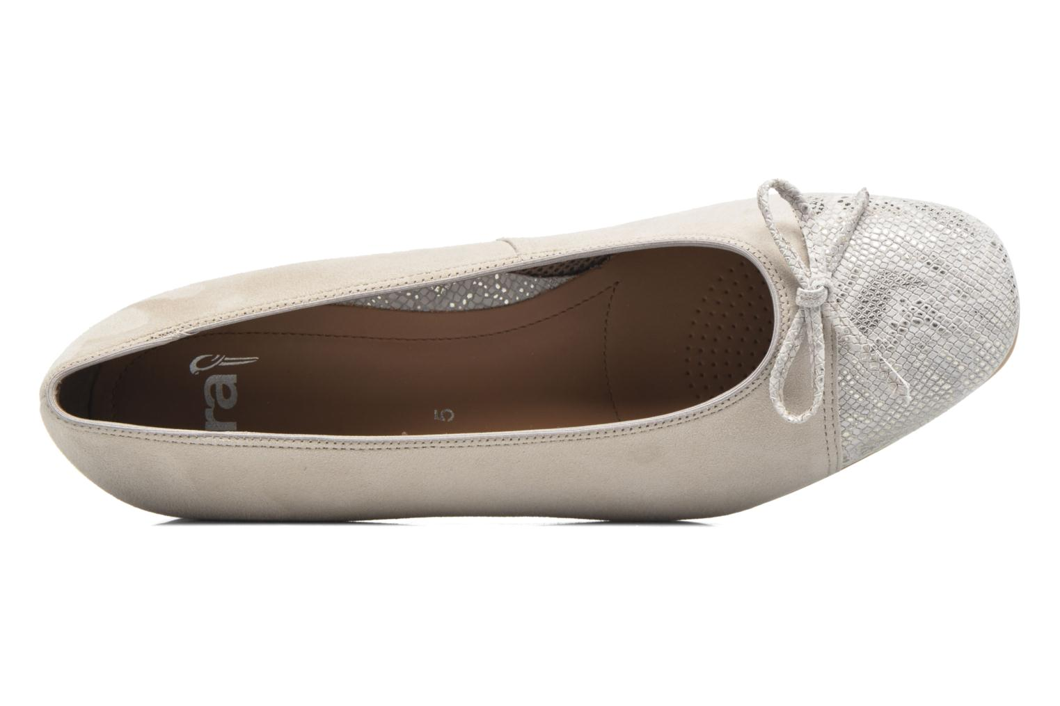 Ballet pumps Ara Bari Beige view from the left