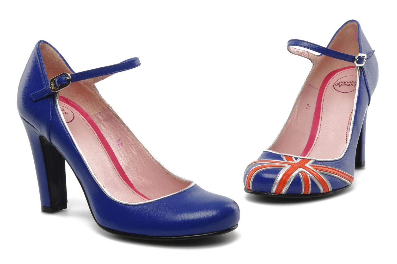 High heels Annabel Winship Ice tea Blue 3/4 view