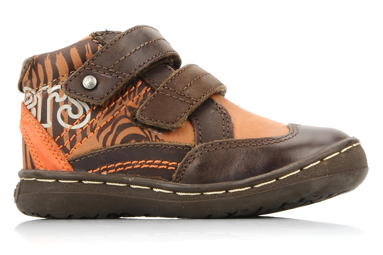 Zapatos con velcro Kickers Maellig Marrón vistra trasera