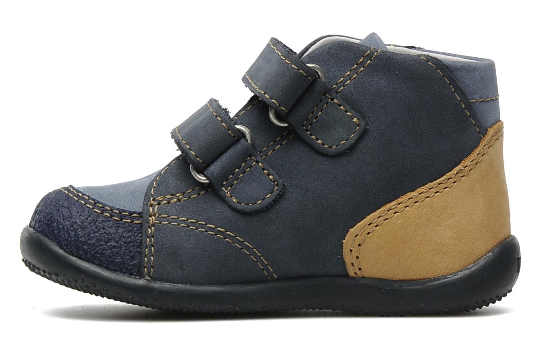 Schoenen met klitteband Kickers Boogy Blauw voorkant