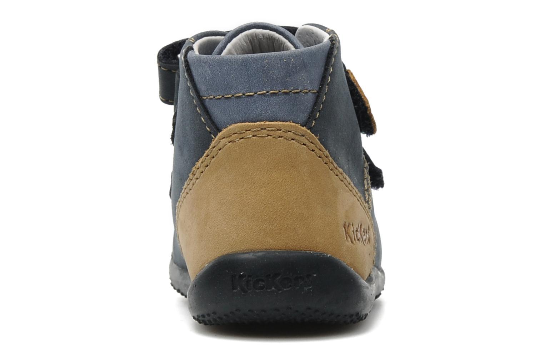Schoenen met klitteband Kickers Boogy Blauw rechts