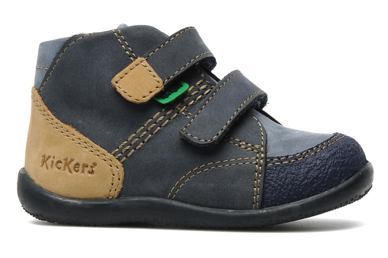 Schoenen met klitteband Kickers Boogy Blauw achterkant