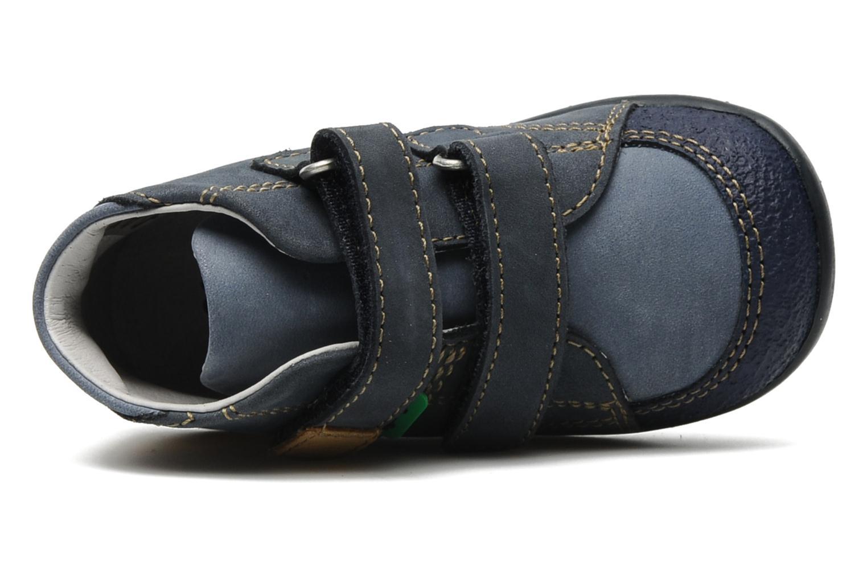Schoenen met klitteband Kickers Boogy Blauw links