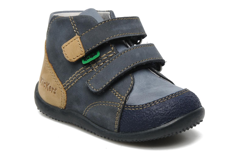 Schoenen met klitteband Kickers Boogy Blauw detail