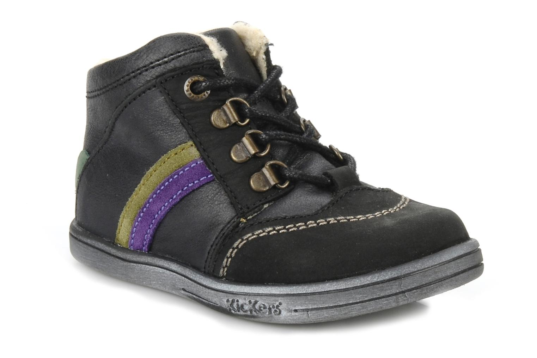 Bottines et boots Kickers Tao Noir vue détail/paire