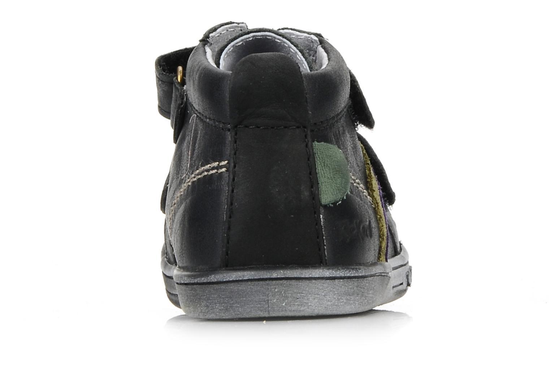 Schoenen met klitteband Kickers Taylor Zwart rechts