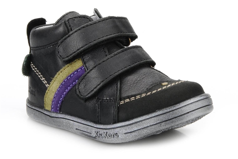 Schoenen met klitteband Kickers Taylor Zwart detail