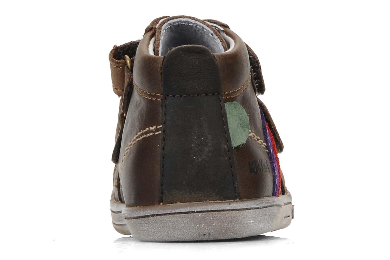 Schoenen met klitteband Kickers Taylor Bruin rechts