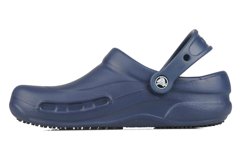 Wedges Crocs Bistro w Blauw voorkant