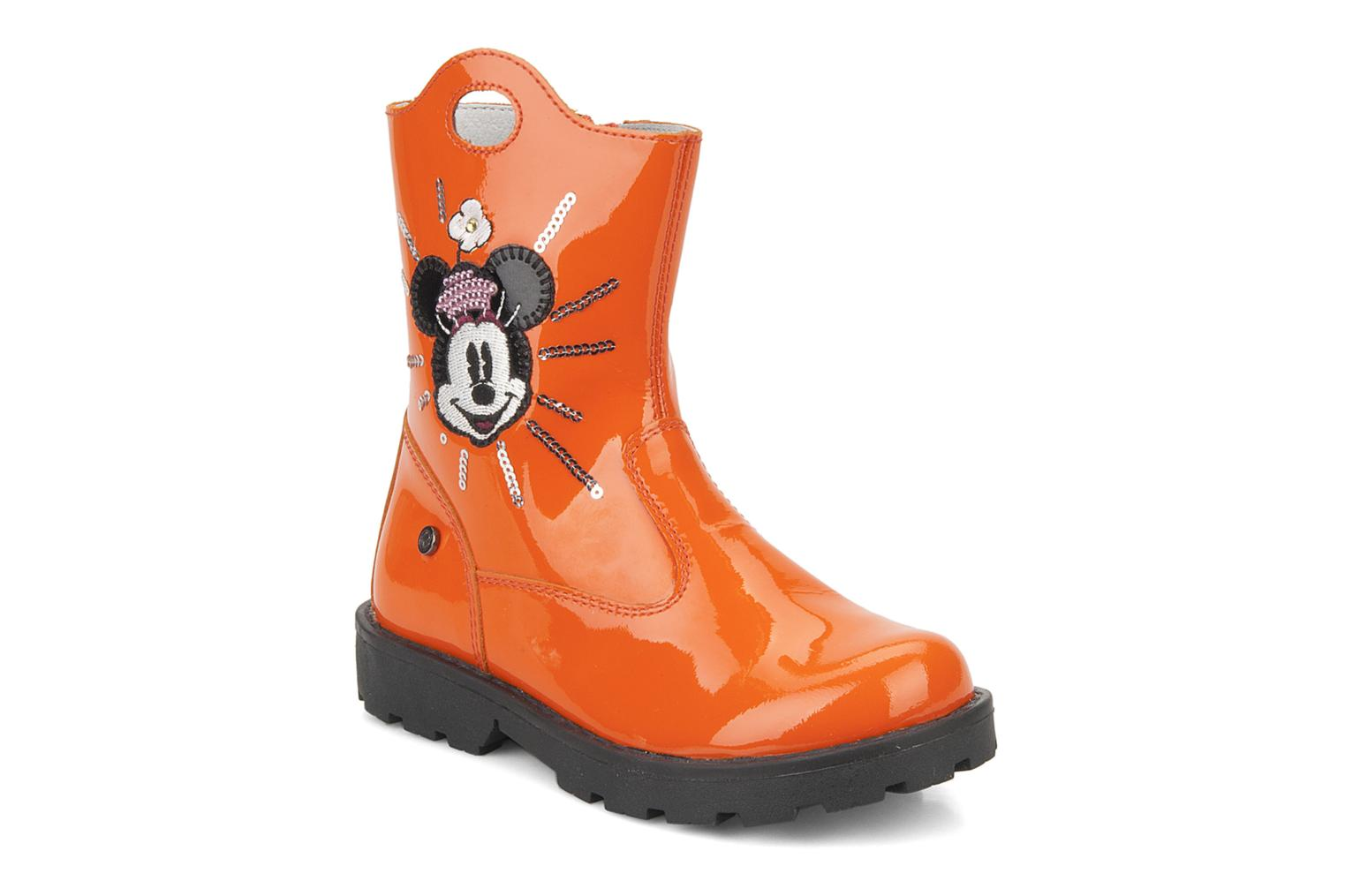 Ankle boots Disney by Naturino Disney 758 Orange detailed view/ Pair view