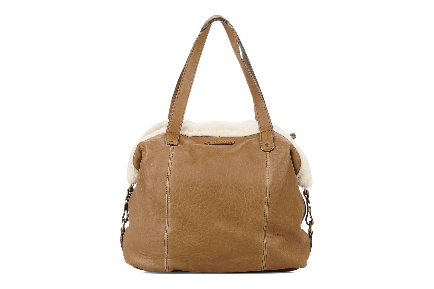 Handbags Abaco Kabaco peau lainee Brown front view
