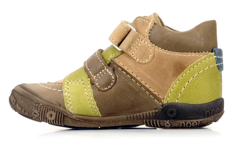 Chaussures à scratch Noël Mini riton Marron vue face