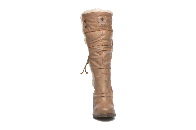 Stiefel Mustang shoes Jessia beige schuhe getragen