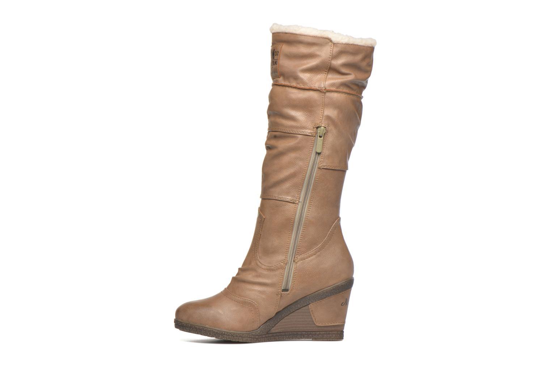 Stiefel Mustang shoes Jessia beige ansicht von vorne
