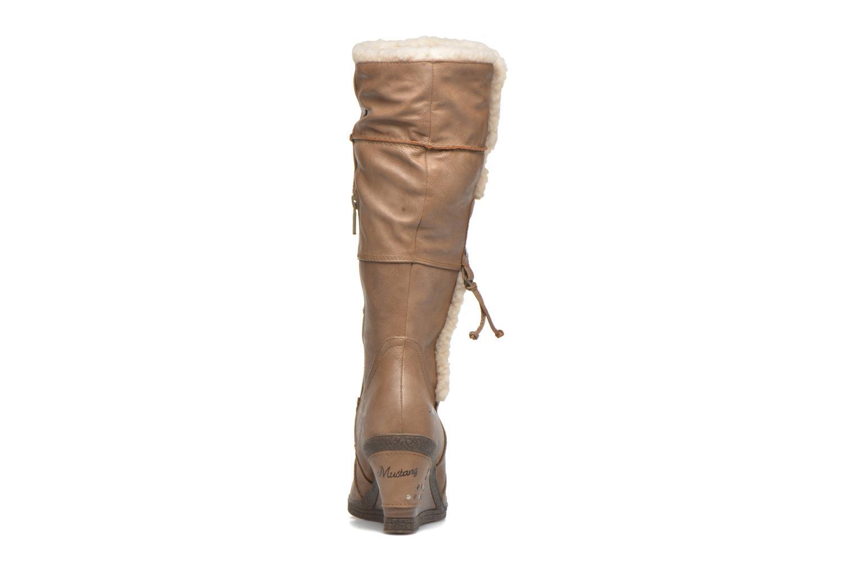 Stiefel Mustang shoes Jessia beige ansicht von rechts