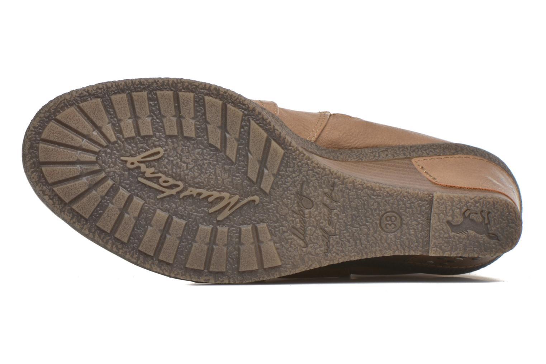Stiefel Mustang shoes Jessia beige ansicht von oben
