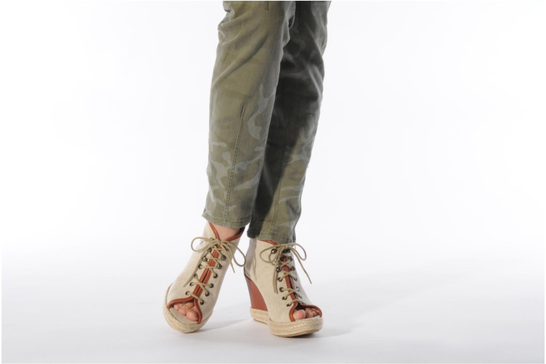 Bottines et boots Eden Tolipa Beige vue bas / vue portée sac