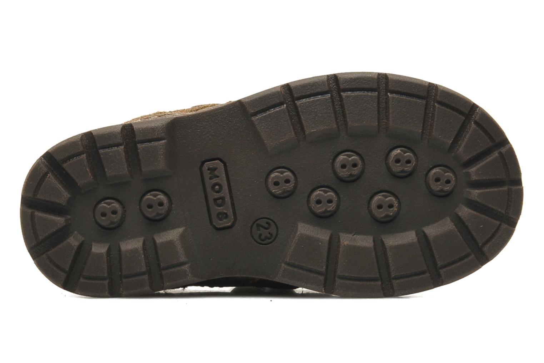 Zapatos con velcro Mod8 Rado Marrón vista de arriba
