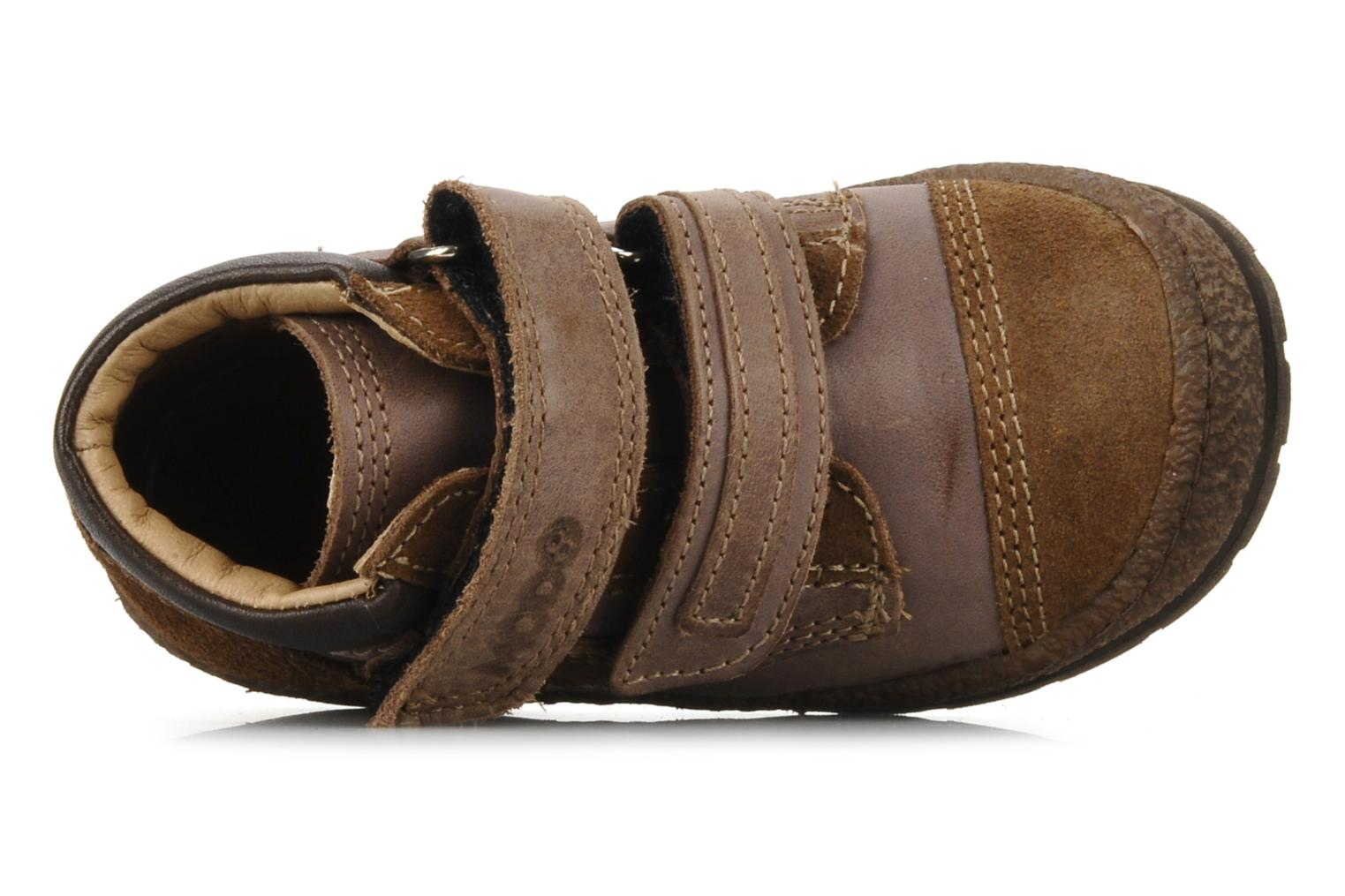 Velcro shoes Mod8 Rado Brown view from the left