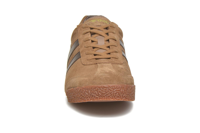 Baskets Gola Harrier m Marron vue portées chaussures