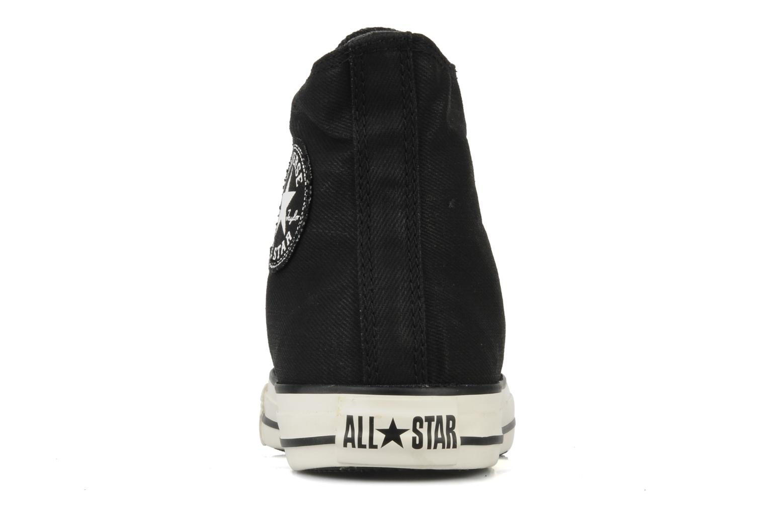 Baskets Converse Chuck taylor all star coated twill textile hi m Noir vue droite