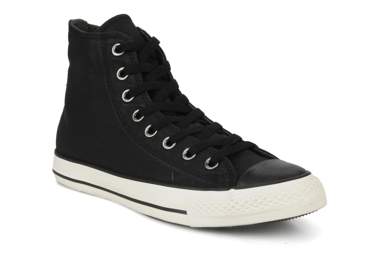 Baskets Converse Chuck taylor all star coated twill textile hi m Noir vue détail/paire