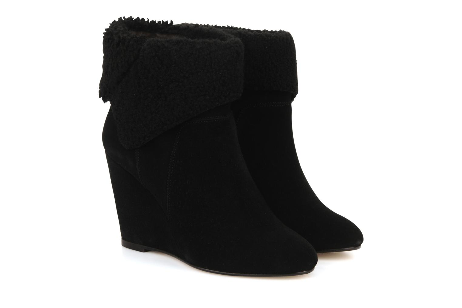 Boots Tila March Wedge booty origami sherling Svart 3/4 bild