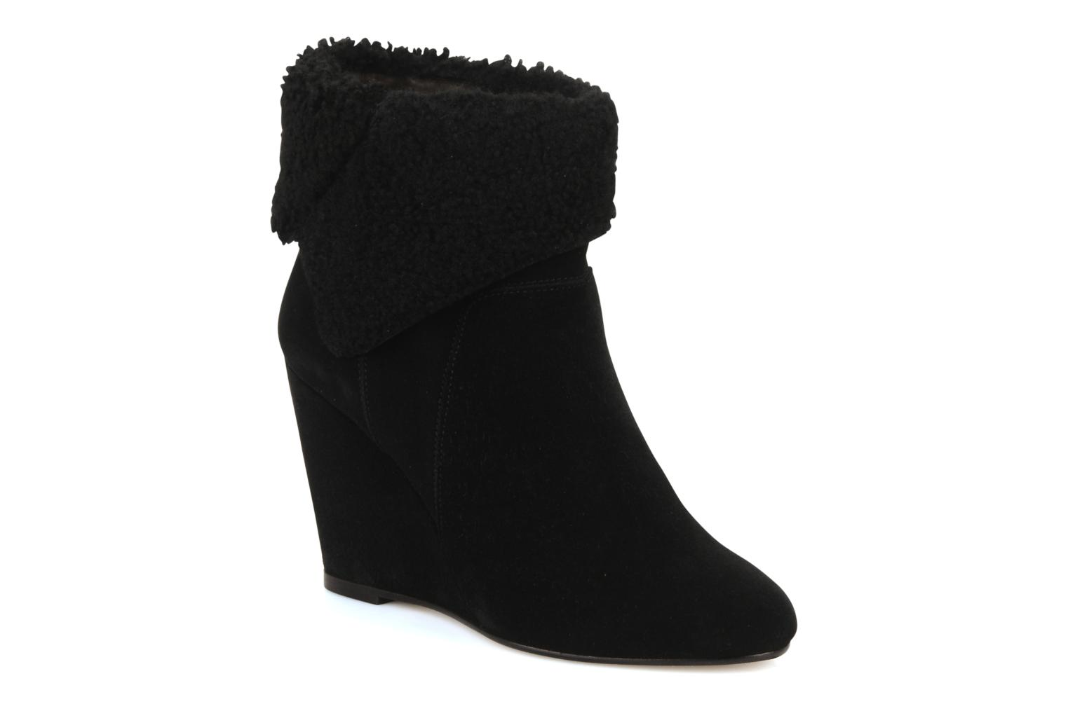 Botines  Tila March Wedge booty origami sherling Negro vista de detalle / par